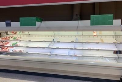 Supermarket Shelves Bare During Covid-19